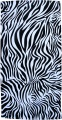 Case of 12 Black and White Zebra Beach Towels 30x60