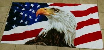 American Bald Eagle Patriotic Beach Towel