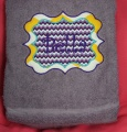 Sassy Monogram Embroidered Name Bath Towel Chevron