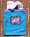 Blue Black and Purple Chevron Canvas Bag Tote for Girls