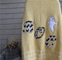 Boo It's a Ghost Bath Towel Applique