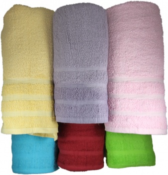 Case of 36 Bath Towels of Assorted Colors 27x54