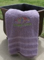 Happy Easter Embroidered Colored Bath Towel