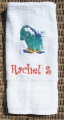 Personalized Elephant Splashing Water White Hand Towel