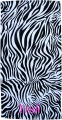 Embroidered Black and White Zebra 30x60 Beach Towel