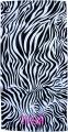 Embroidered Black and White Zebra 30x60 Beach Towel
