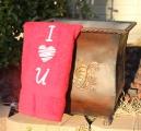 Embroidered I Love U Hand Towel