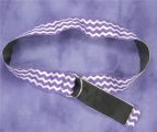 Purple and White Chevron Ribbon Belt for School
