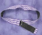 Purple and White Chevron Ribbon Belt for School