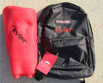 Matching Back Pack and Lovie Blanket Set