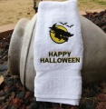 Flying Witch Happy Halloween Hand Towel