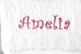 Personalized White 3pc Bath Hand and Wash Towel Set
