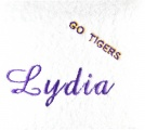 Personalized Go Tigers WhiteHand Towel