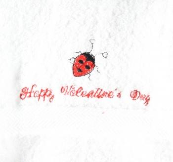 Ladybugs Valentine's Hand Towel