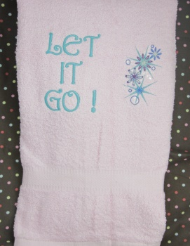 Let It GO Bath Towel for Girl's