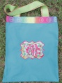 Blue Pink Limegreen Pool Overnight Makeup Bag