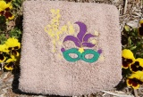 Mardi Gras Embroidered Colored Bath Towel