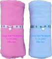 Personalized Embroidered Fleece Baby Blanket 50x60