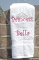 Personalized Embroidered Pink Princess Crown Hand Towel