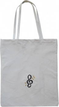 Canvas Tote Bag for Piano and Voice Lessons