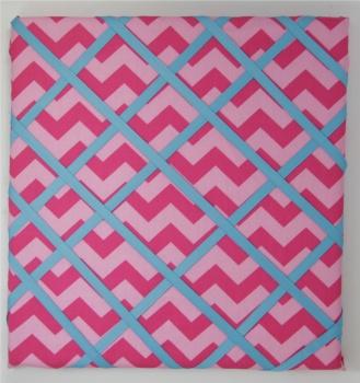 Pink Chevron Picture Board Fabric Memo Board