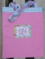 Pink Turquoise Chevron Paisley Canvas Tote Bag Girl's