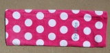 Hot Pink Polka Dot Beach Towel 30x60