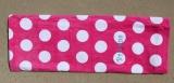 Hot Pink Polka Dot Beach Towel 30x60