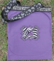 Purple Black Zebra Paisley Canvas Girls Tote Bag