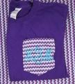Chevron Purple Pocket Tee Shirt Monogrammed Initials