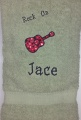 Boy Guitar Theme Bath Towel-  Rock ON
