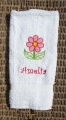 Spring Flower White Hand Towel