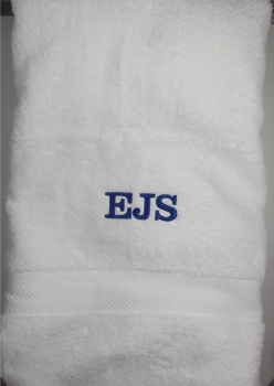 Personalized Embroidered White Bath Towel