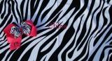 Zebra Print Beach Towel and Hot Pink Zebra Bow Set